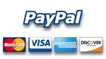 we accept paypal!