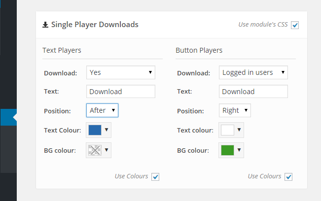 Single Player Downloads Admin Panel